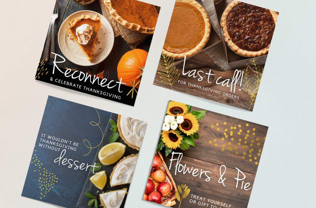 social media images designed for a bakery