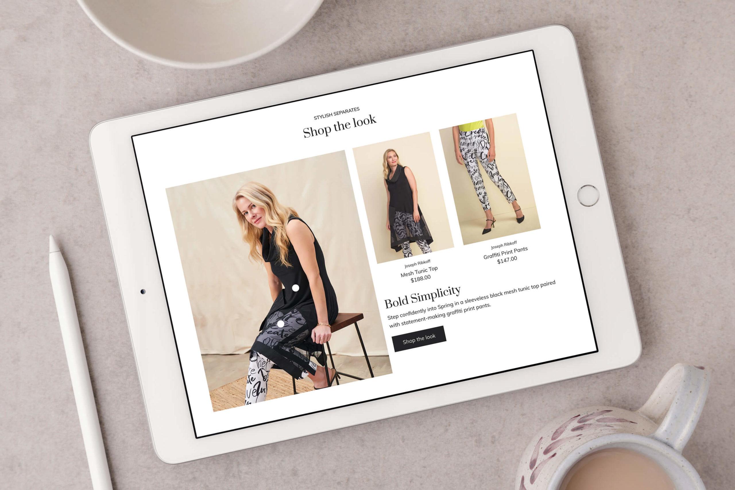 Arezzo Shop the Look website screenshot