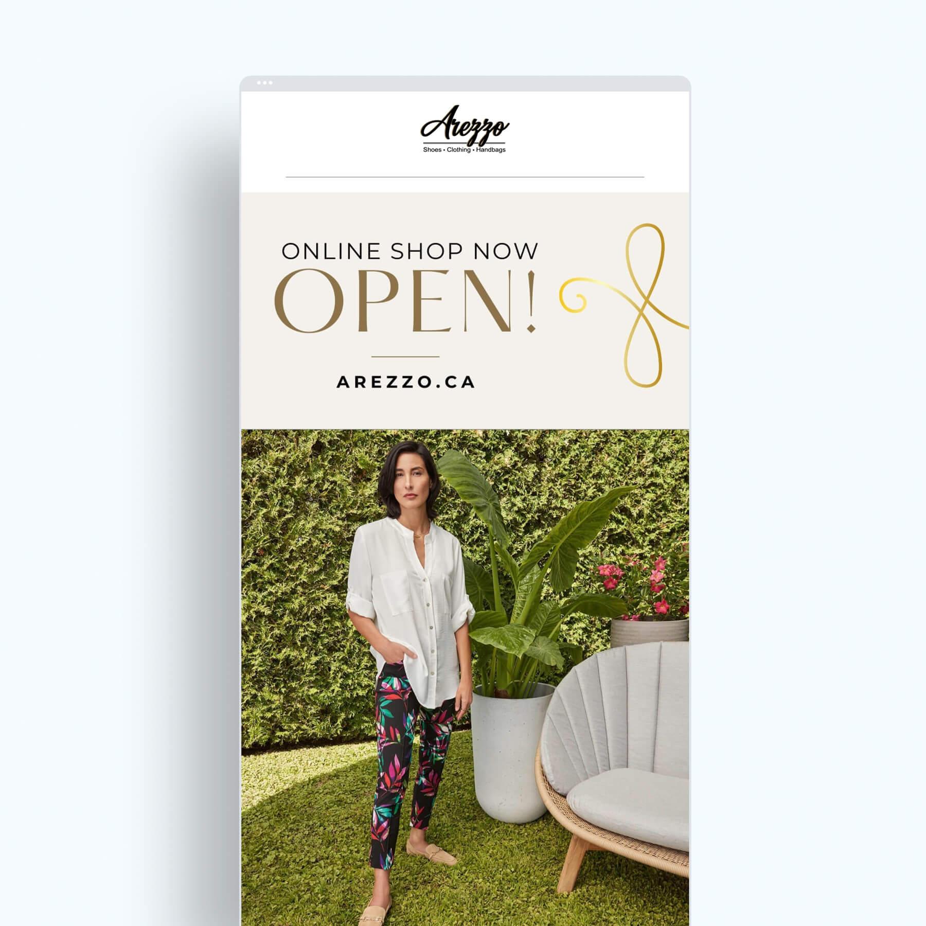 Arezzo email marketing design screenshot