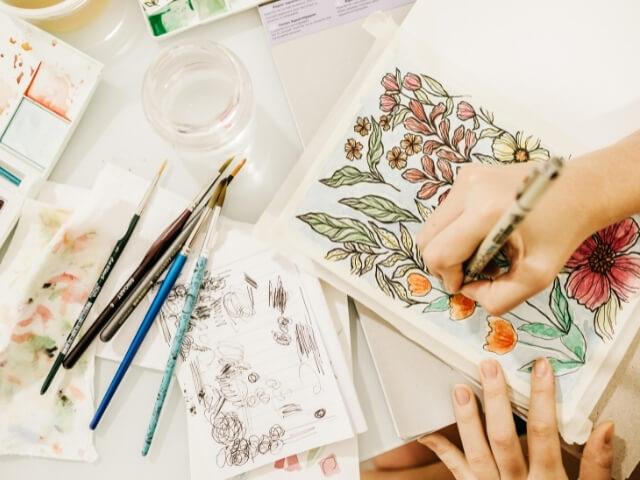 Flower Drawing Workshop