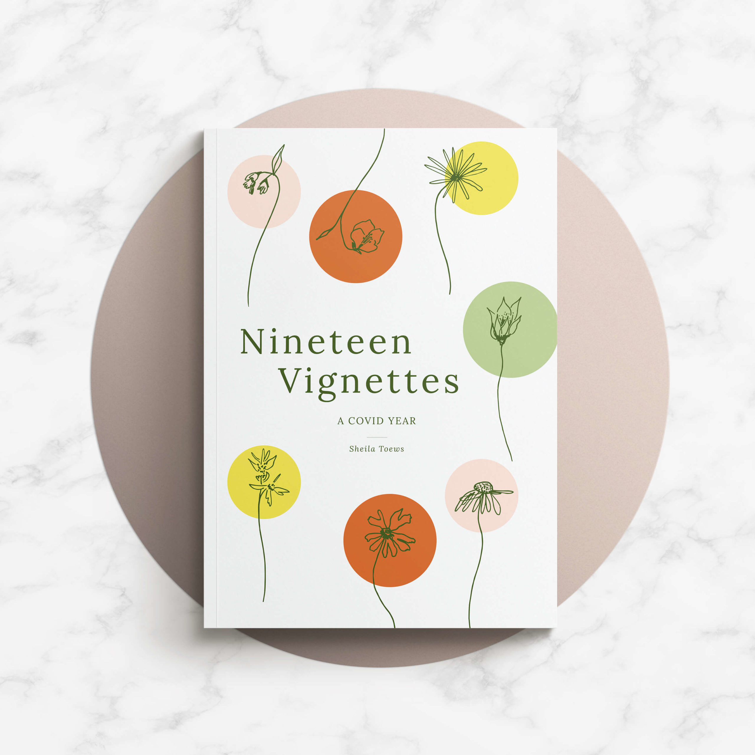 Book cover design featuring Manitoba wildflowers