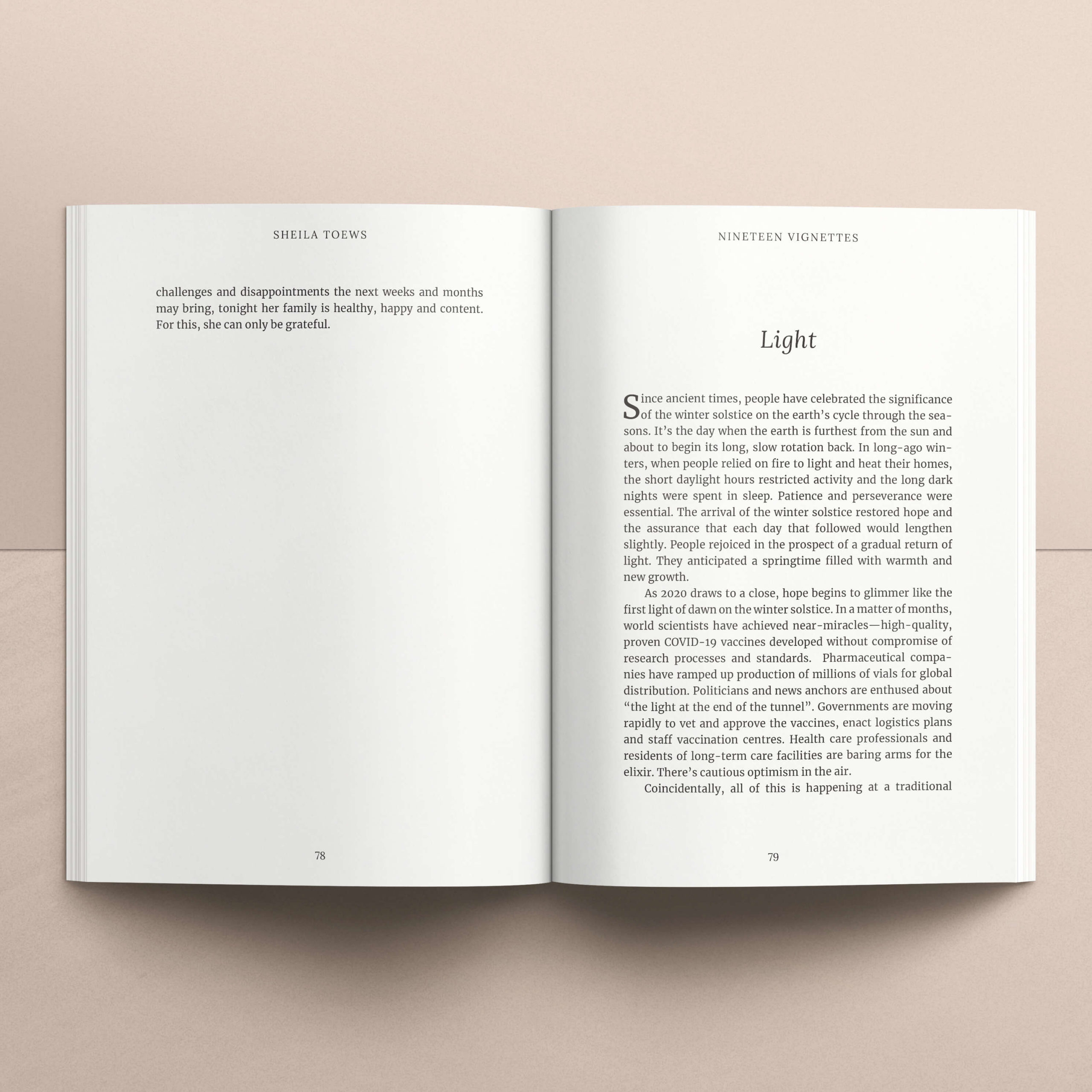 Interior page design for a short story collection