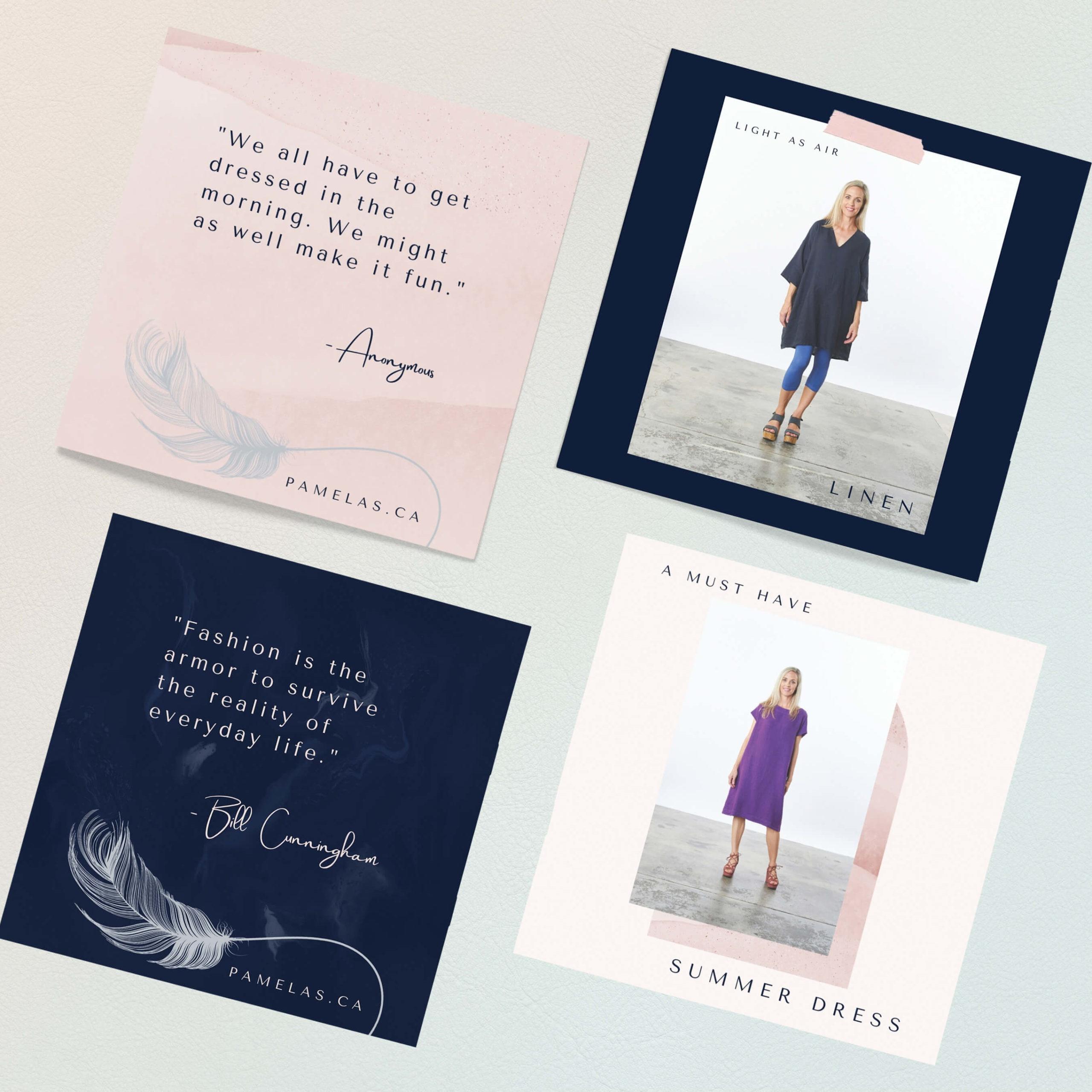 Pamela's social media post designs