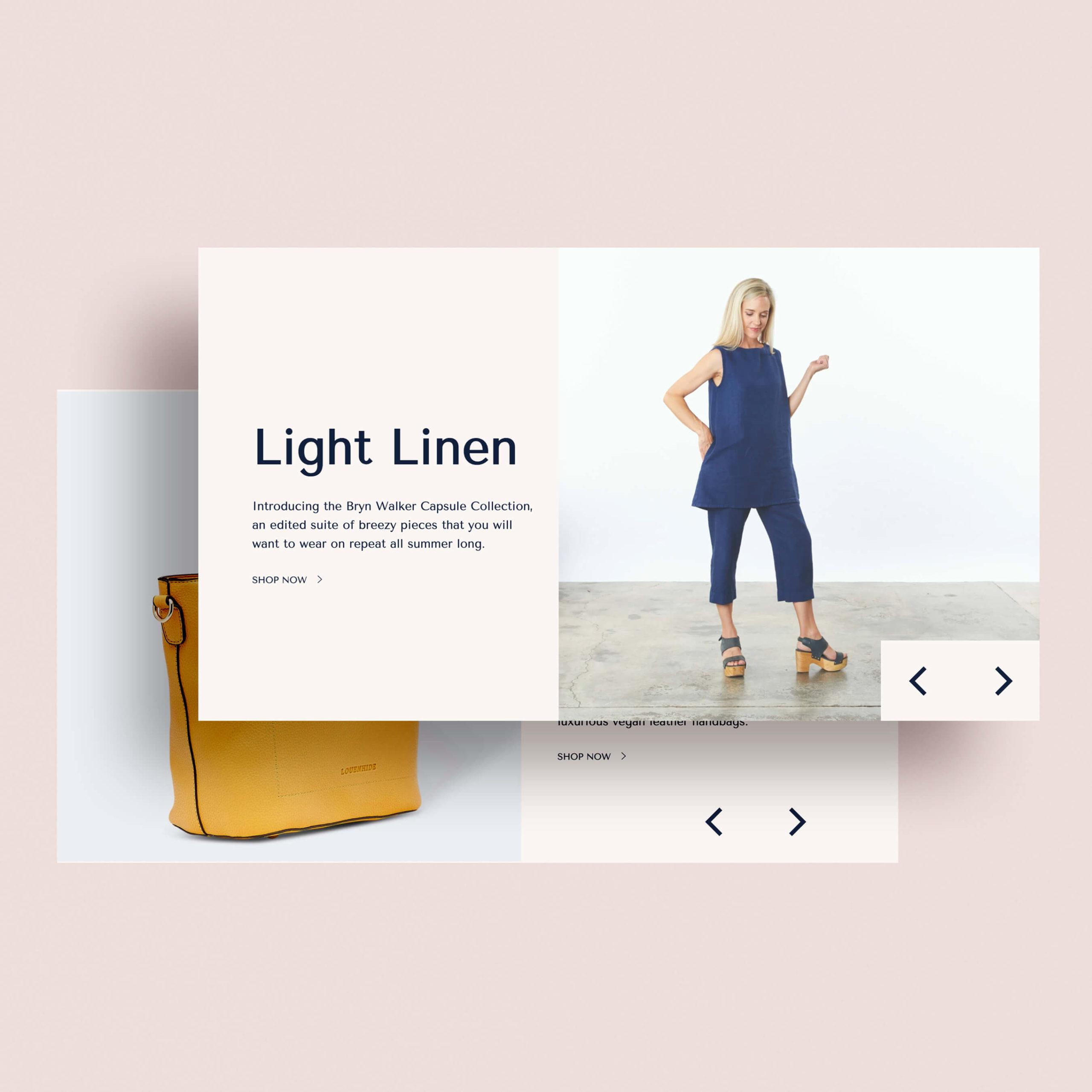 Pamela's website slideshow designs
