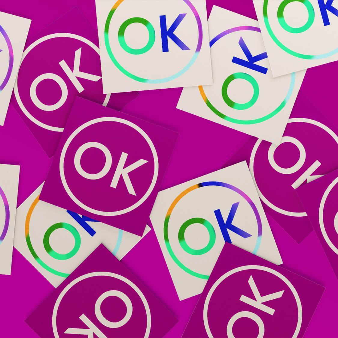 OK Stamp Logo Magenta